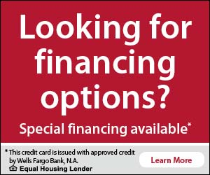 Looking for financing Options? Special financing available*