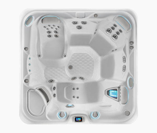 Envoy Hot Tub Spa Aerial View | Hot Springs Spas available at the Recreational Warehouse Southwest Florida (Naples, Fort Myers and Port Charlotte Locations) Pool Warehouse