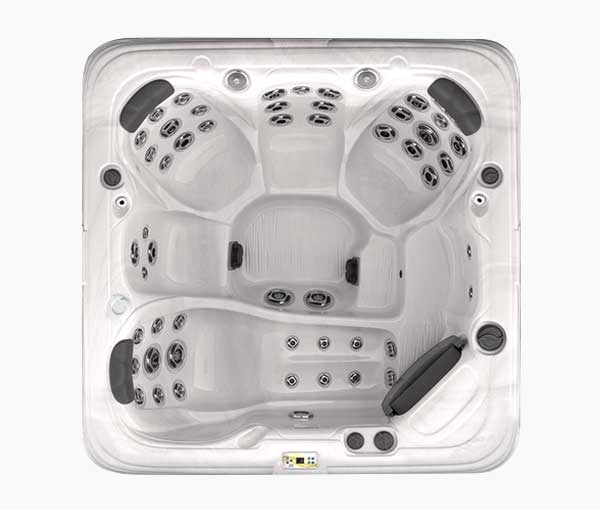 GL753L Garden Leisure Spa Series Aerial View | Garden Leisure Spas available at the Recreational Warehouse Southwest Florida (Naples, Fort Myers and Port Charlotte Locations) Pool Warehouse