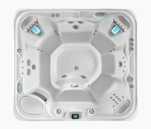 Grandee Hot Tub Spa Aerial View | Hot Springs Spas available at the Recreational Warehouse Southwest Florida (Naples, Fort Myers and Port Charlotte Locations) Pool Warehouse