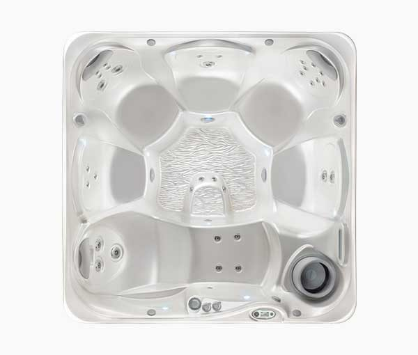 Relay Hot Tub Spa Aerial View | Hot Springs Spas available at the Recreational Warehouse Southwest Florida (Naples, Fort Myers and Port Charlotte Locations) Pool Warehouse