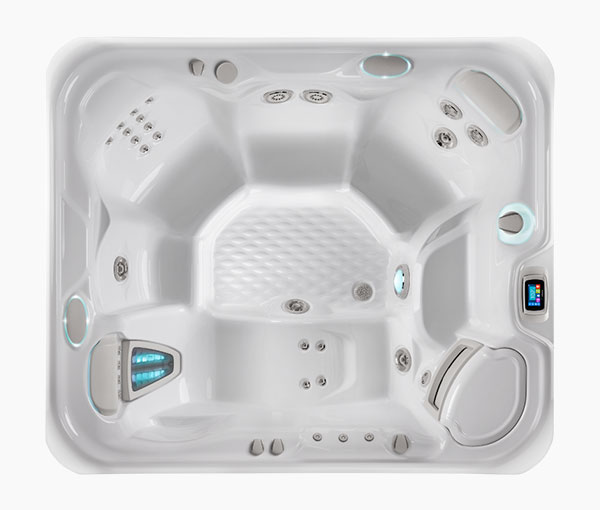 Sovereign Hot Tub Spa Aerial View | Hot Springs Spas available at the Recreational Warehouse Southwest Florida (Naples, Fort Myers and Port Charlotte Locations) Pool Warehouse