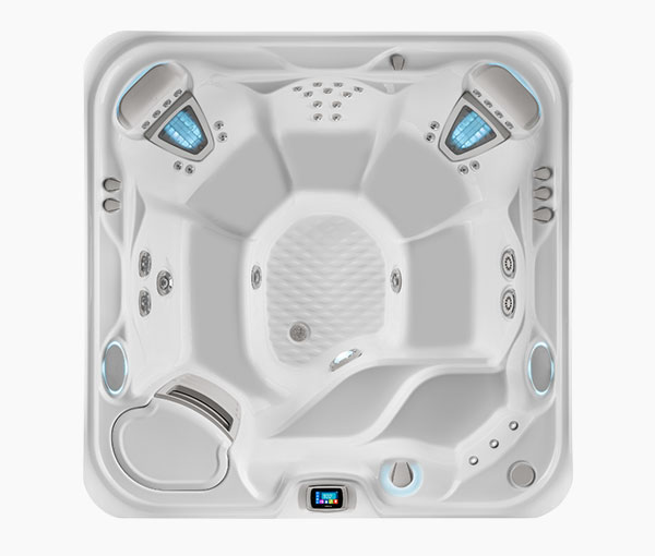 Vanguard Hot Tub Spa Aerial View | Hot Springs Spas available at the Recreational Warehouse Southwest Florida (Naples, Fort Myers and Port Charlotte Locations) Pool Warehouse