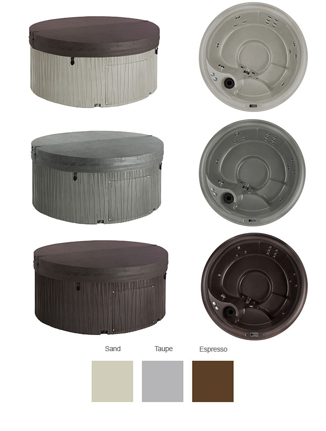 Aptos Color Options | Freeflow Spas available at the Recreational Warehouse Southwest Florida (Naples, Fort Myers and Port Charlotte Locations) Pool Warehouse