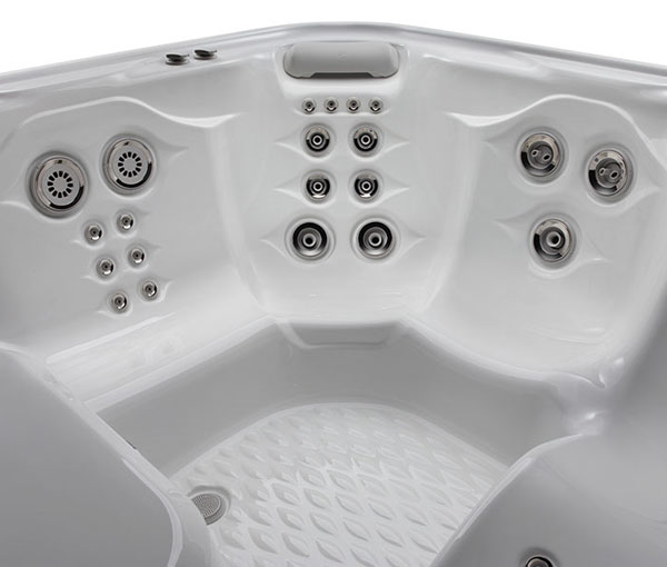 Aria Hot Tub Spa Interior Jet Details | Hot Springs Spas available at the Recreational Warehouse Southwest Florida (Naples, Fort Myers and Port Charlotte Locations) Pool Warehouse
