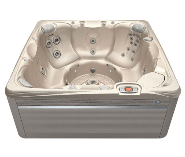 Reunion Hot Tub in Ash and Desert | Caldera Spas available at the Recreational Warehouse Southwest Florida (Naples, Fort Myers and Port Charlotte Locations) Pool Warehouse