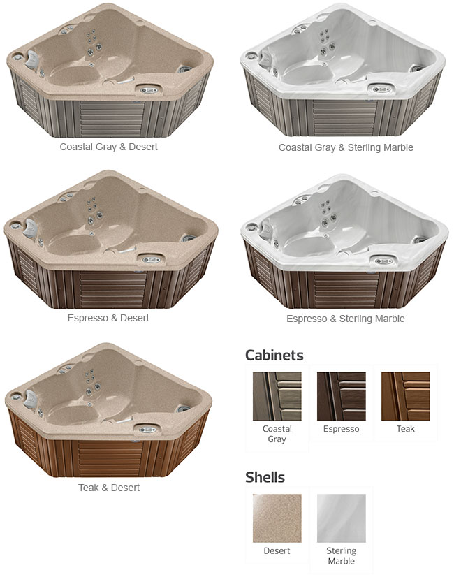 Aventine Color Options | Caldera Spas available at the Recreational Warehouse Southwest Florida (Naples, Fort Myers and Port Charlotte Locations) Pool Warehouse