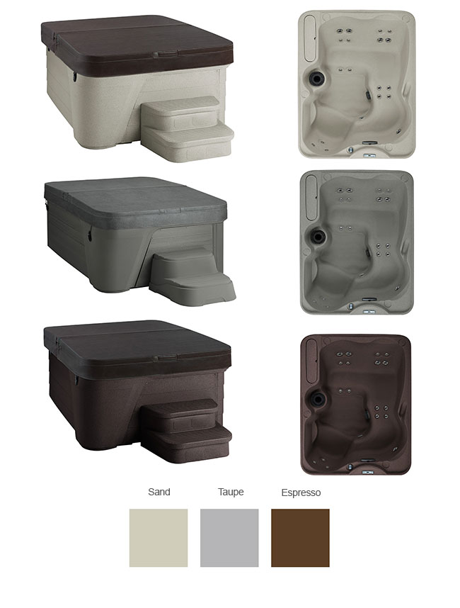 Azure Color Options   Freeflow Spas available at the Recreational Warehouse Southwest Florida (Naples, Fort Myers and Port Charlotte Locations) Pool Warehouse