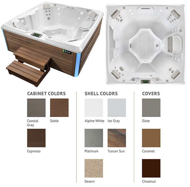Beam Color Options | Hot Springs Spas available at the Recreational Warehouse Southwest Florida (Naples, Fort Myers and Port Charlotte Locations) Pool Warehouse