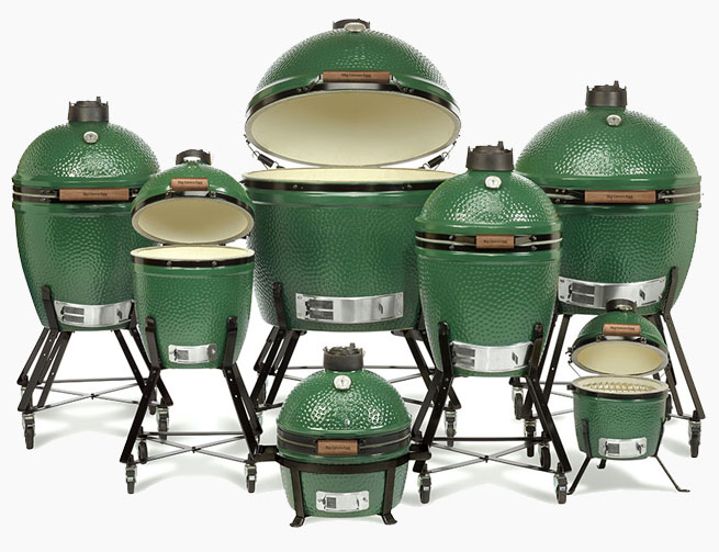 Big Green Egg Full Line of BBQ Grills from The Recreational Warehouse Southwest Florida's Leading Warehouse for Spas, Hot Tubs, Pool Heaters, Pool Supplies, Outdoor Kitchens and more!