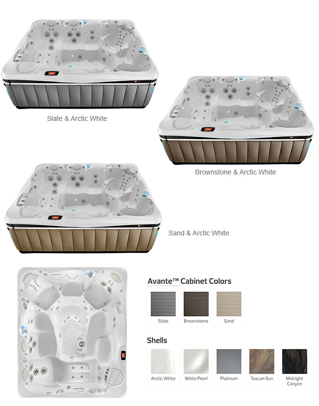 Cantabria Color Options | Caldera Spas available at the Recreational Warehouse Southwest Florida (Naples, Fort Myers and Port Charlotte Locations) Pool Warehouse