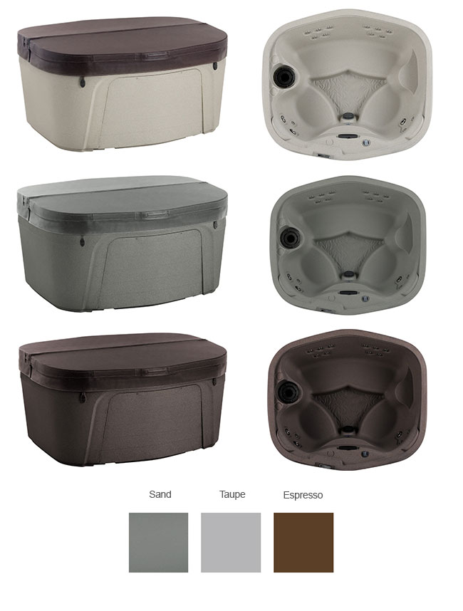 Cascina Color Options | Freeflow Spas available at the Recreational Warehouse Southwest Florida (Naples, Fort Myers and Port Charlotte Locations) Pool Warehouse