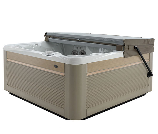 Reunion Hot Tub with Optional Cover Lift | Caldera Spas available at the Recreational Warehouse Southwest Florida (Naples, Fort Myers and Port Charlotte Locations) Pool Warehouse