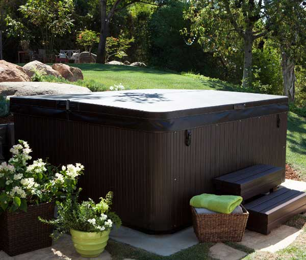 Covered Tempo Hot Tub Spa with Accessories | Hot Springs Spas available at the Recreational Warehouse Southwest Florida (Naples, Fort Myers and Port Charlotte Locations) Pool Warehouse