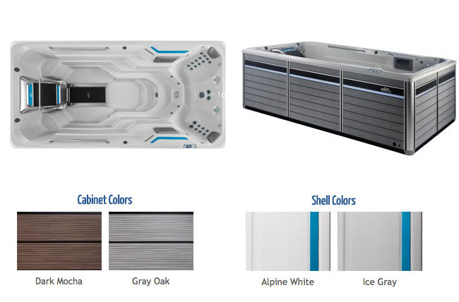 E500 Endless Pool Color Options   Endless Pools Fitness Systems available at the Recreational Warehouse Southwest Florida (Naples, Fort Myers and Port Charlotte Locations) Pool Warehouse