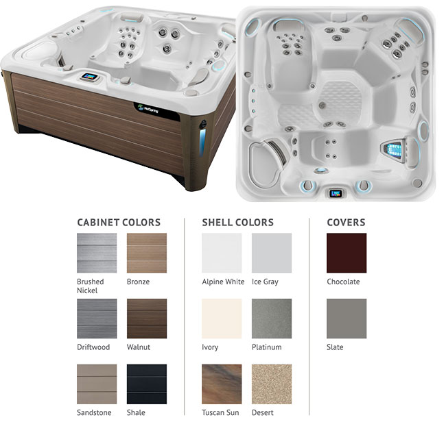 Envoy Color Options | Hot Springs Spas available at the Recreational Warehouse Southwest Florida (Naples, Fort Myers and Port Charlotte Locations) Pool Warehouse