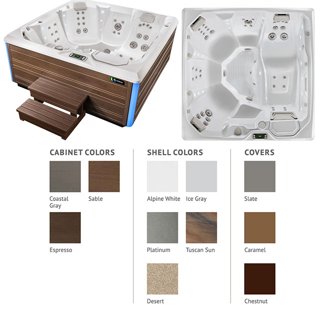 Flair Color Options | Hot Springs Spas available at the Recreational Warehouse Southwest Florida (Naples, Fort Myers and Port Charlotte Locations) Pool Warehouse