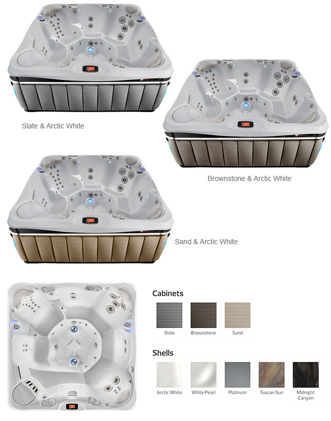 Florence Color Options | Caldera Spas available at the Recreational Warehouse Southwest Florida (Naples, Fort Myers and Port Charlotte Locations) Pool Warehouse