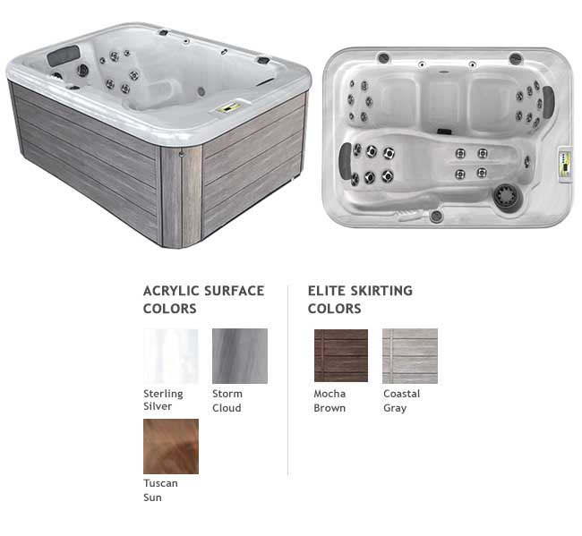 GL525L Garden Leisure Spa Color Options | Garden Leisure Spas available at the Recreational Warehouse Southwest Florida (Naples, Fort Myers and Port Charlotte Locations) Pool Warehouse
