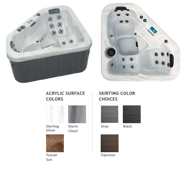 GL616 Garden Leisure Spa Color Options | Garden Leisure Spas available at the Recreational Warehouse Southwest Florida (Naples, Fort Myers and Port Charlotte Locations) Pool Warehouse
