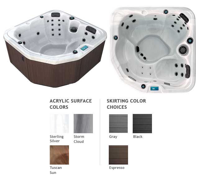 GL630 Garden Leisure Spa Color Options | Garden Leisure Spas available at the Recreational Warehouse Southwest Florida (Naples, Fort Myers and Port Charlotte Locations) Pool Warehouse
