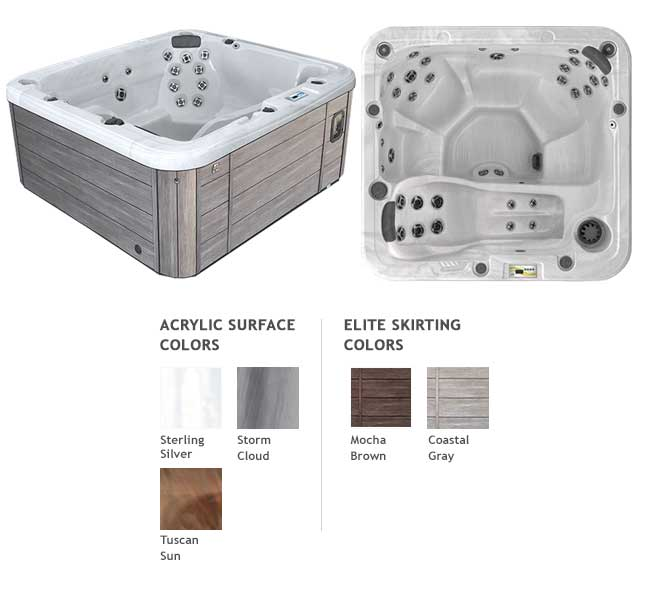 GL635L Garden Leisure Spa Color Options | Garden Leisure Spas available at the Recreational Warehouse Southwest Florida (Naples, Fort Myers and Port Charlotte Locations) Pool Warehouse