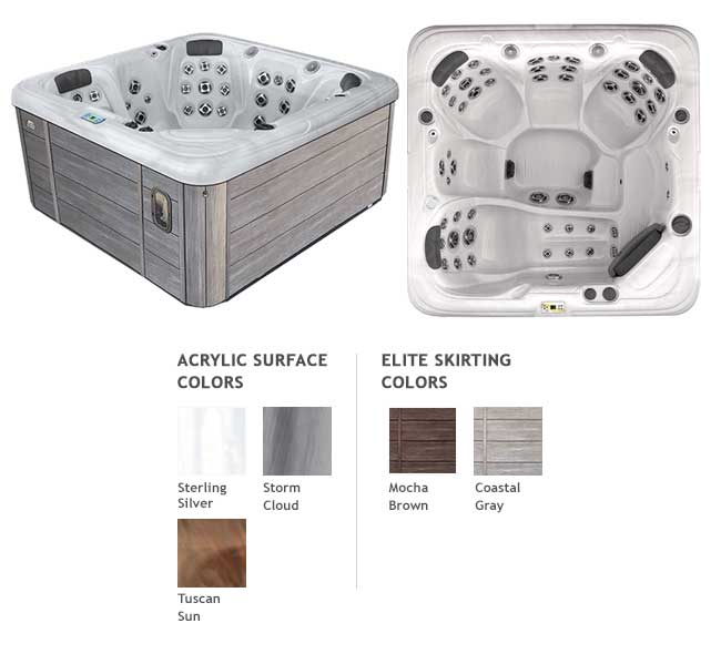 GL753L Garden Leisure Spa Color Options | Garden Leisure Spas available at the Recreational Warehouse Southwest Florida (Naples, Fort Myers and Port Charlotte Locations) Pool Warehouse