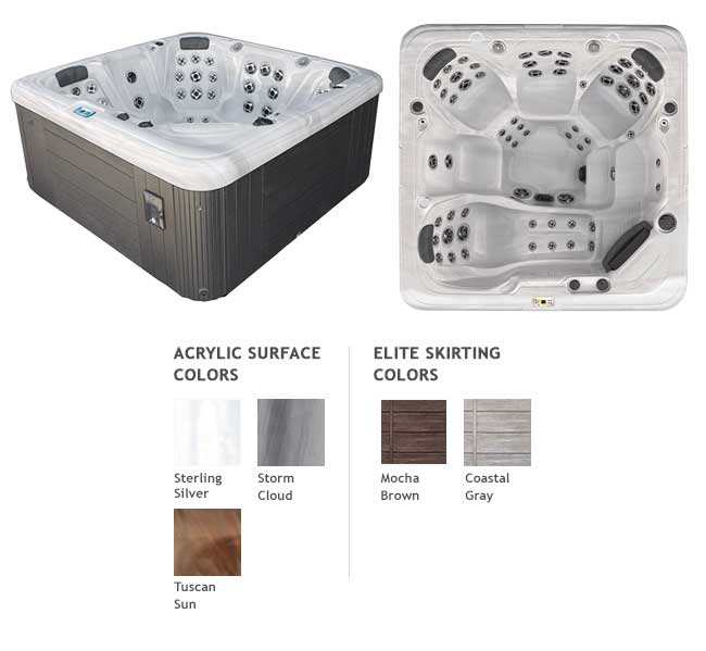 GL863L Garden Leisure Spa Color Options | Garden Leisure Spas available at the Recreational Warehouse Southwest Florida (Naples, Fort Myers and Port Charlotte Locations) Pool Warehouse