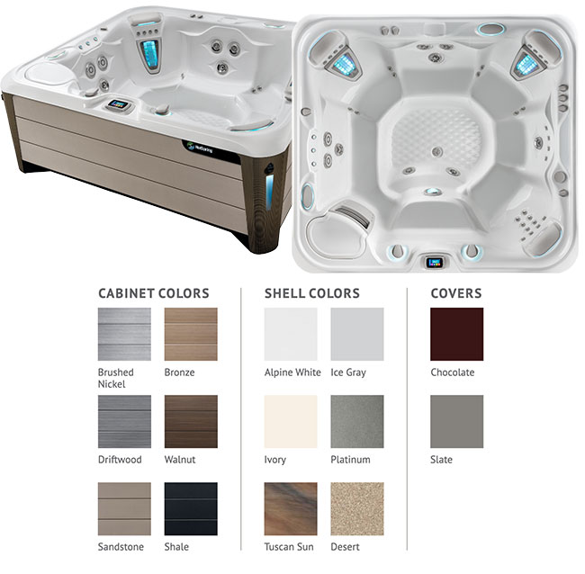 Grandee Color Options | Hot Springs Spas available at the Recreational Warehouse Southwest Florida (Naples, Fort Myers and Port Charlotte Locations) Pool Warehouse