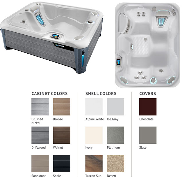 Jetsetter Color Options | Hot Springs Spas available at the Recreational Warehouse Southwest Florida (Naples, Fort Myers and Port Charlotte Locations) Pool Warehouse