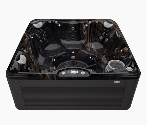 Marino Hot Tub in Java and Midnight Canyon | Caldera Spas available at the Recreational Warehouse Southwest Florida (Naples, Fort Myers and Port Charlotte Locations) Pool Warehouse