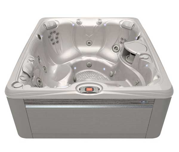 Martinique Hot Tub in Ash and White Pearl | Caldera Spas available at the Recreational Warehouse Southwest Florida (Naples, Fort Myers and Port Charlotte Locations) Pool Warehouse