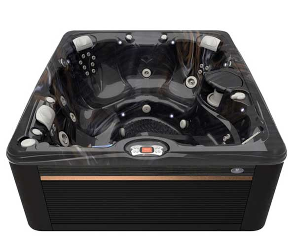 Martinique Hot Tub in Java and Midnight Canyon | Caldera Spas available at the Recreational Warehouse Southwest Florida (Naples, Fort Myers and Port Charlotte Locations) Pool Warehouse