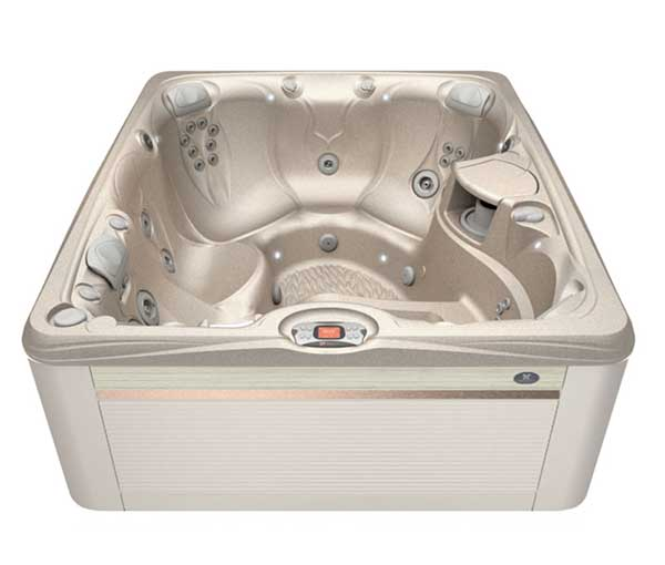 Martinique Hot Tub in Parchment and Desert | Caldera Spas available at the Recreational Warehouse Southwest Florida (Naples, Fort Myers and Port Charlotte Locations) Pool Warehouse