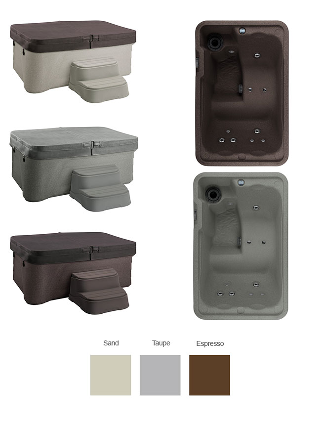 Mini Color Options | Freeflow Spas available at the Recreational Warehouse Southwest Florida (Naples, Fort Myers and Port Charlotte Locations) Pool Warehouse