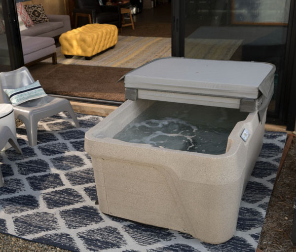 Mini Hot Tub Spa with Cover | Freeflow Spas available at the Recreational Warehouse Southwest Florida (Naples, Fort Myers and Port Charlotte Locations) Pool Warehouse