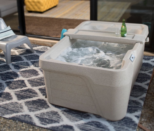 Mini Hot Tub Spa with Removable Shelf | Freeflow Spas available at the Recreational Warehouse Southwest Florida (Naples, Fort Myers and Port Charlotte Locations) Pool Warehouse