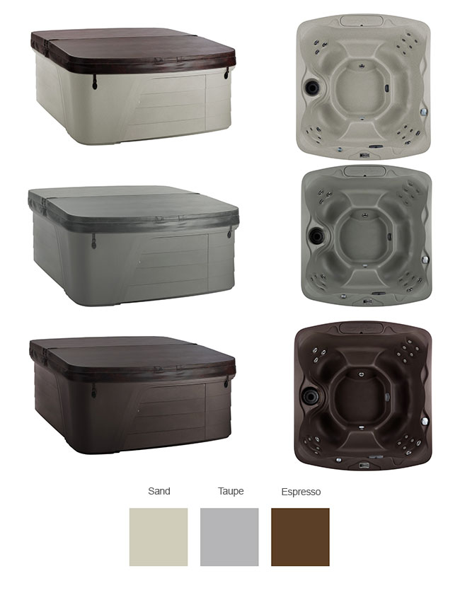 Monterey Color Options | Freeflow Spas available at the Recreational Warehouse Southwest Florida (Naples, Fort Myers and Port Charlotte Locations) Pool Warehouse