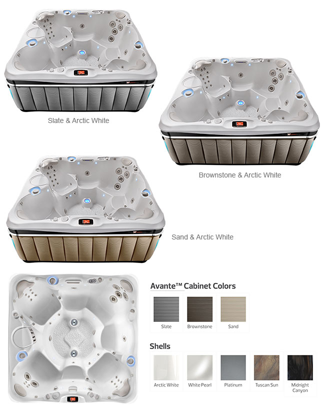 Niagara Color Options | Caldera Spas available at the Recreational Warehouse Southwest Florida (Naples, Fort Myers and Port Charlotte Locations) Pool Warehouse