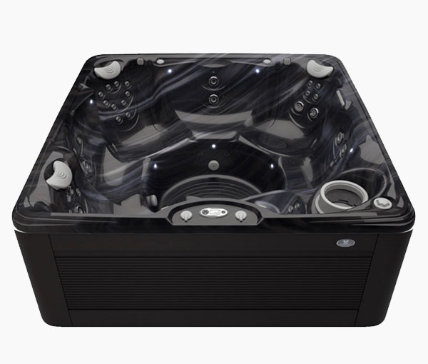 Palatino Hot Tub in Java and Midnight Canyon | Caldera Spas available at the Recreational Warehouse Southwest Florida (Naples, Fort Myers and Port Charlotte Locations) Pool Warehouse