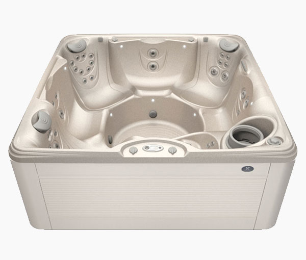 Seychelles Hot Tub in Parchment and Desert | Caldera Spas available at the Recreational Warehouse Southwest Florida (Naples, Fort Myers and Port Charlotte Locations) Pool Warehouse