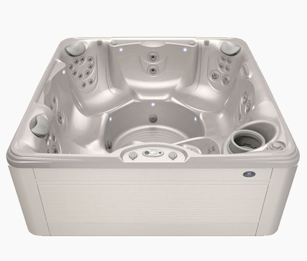 Palatino Hot Tub in Parchment and White Pearl | Caldera Spas available at the Recreational Warehouse Southwest Florida (Naples, Fort Myers and Port Charlotte Locations) Pool Warehouse