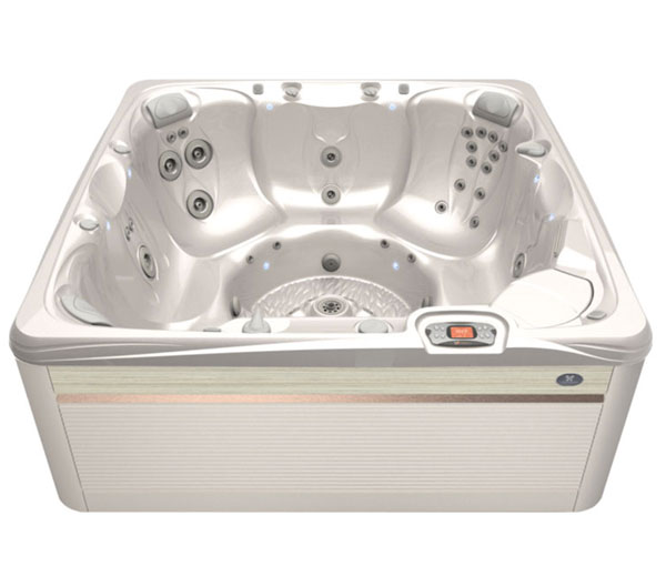Reunion Hot Tub in Parchment and White Pearl | Caldera Spas available at the Recreational Warehouse Southwest Florida (Naples, Fort Myers and Port Charlotte Locations) Pool Warehouse