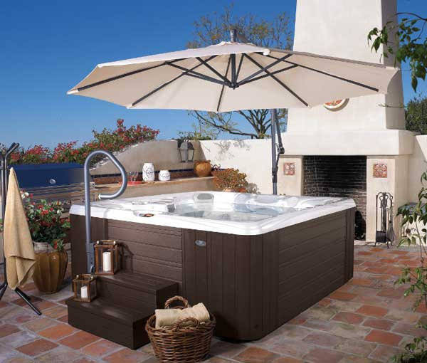 Salina Hot Tub in Patio Setup | Caldera Spas available at the Recreational Warehouse Southwest Florida (Naples, Fort Myers and Port Charlotte Locations) Pool Warehouse