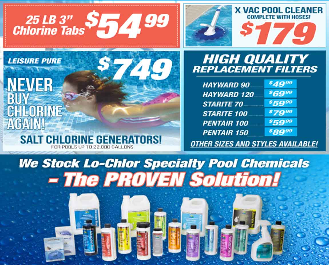 The Recreational Warehouse's Pool Supplies Promotion   Southwest Florida's Leading Warehouse for Spas, Hot Tubs, Pool Heaters, Pool Supplies, Outdoor Kitchens and more!
