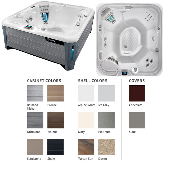 Prodigy Color Options | Hot Springs Spas available at the Recreational Warehouse Southwest Florida (Naples, Fort Myers and Port Charlotte Locations) Pool Warehouse