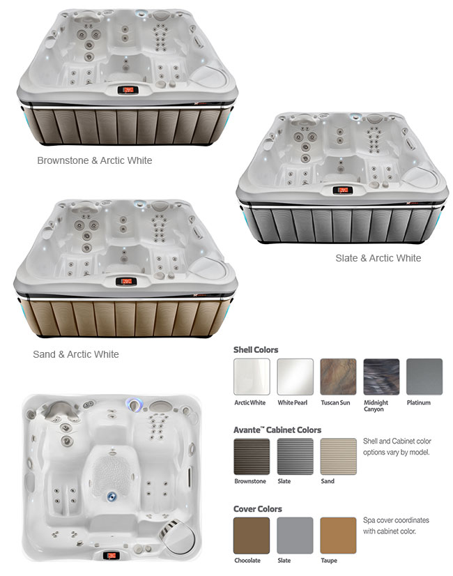 Provence Color Options | Caldera Spas available at the Recreational Warehouse Southwest Florida (Naples, Fort Myers and Port Charlotte Locations) Pool Warehouse