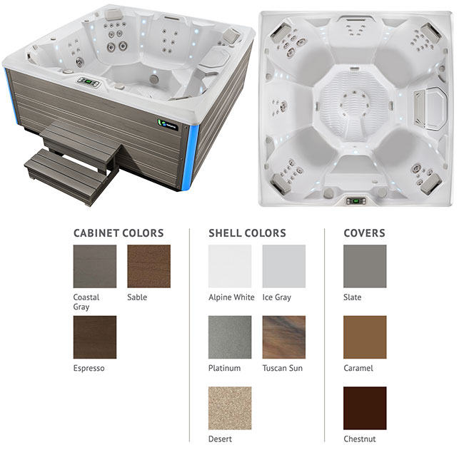 Pulse Color Options | Hot Springs Spas available at the Recreational Warehouse Southwest Florida (Naples, Fort Myers and Port Charlotte Locations) Pool Warehouse