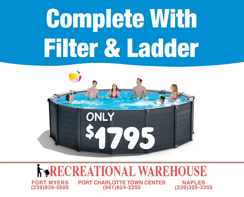 Above Ground Pools Only $1795 | The Recreational Warehouse, Fort Myers, Port Charlotte & Naples