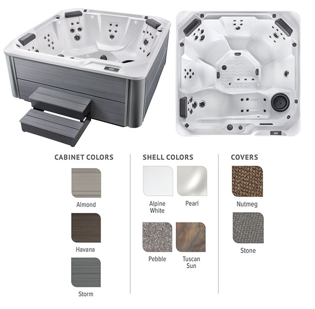 Relay Color Options | Hot Springs Spas available at the Recreational Warehouse Southwest Florida (Naples, Fort Myers and Port Charlotte Locations) Pool Warehouse